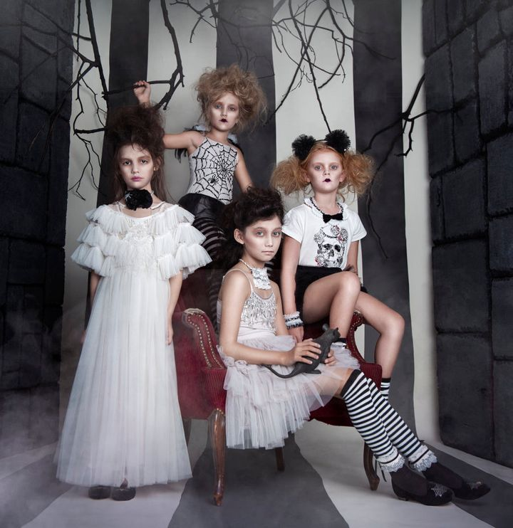 They're spooky and they're creepy, but also pretty stylish. Some of the designs in Tutu Du Monde's new Halloween collection for 2016.