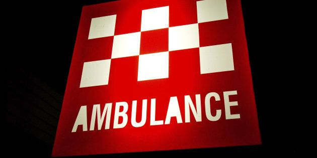 A truckie has been airlifted to hospital after a collision with a train in