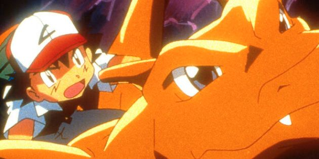 387921 02: Ash (left) and Charizard in 4Kids Entertainment's animated adventure 'Pokemon3,' distributed by Warner Bros. Pictures. (Photo by Warner Bros. Pictures)