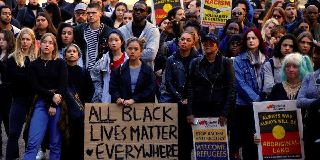 Protesters have turned out in Sydney in support of Black Lives