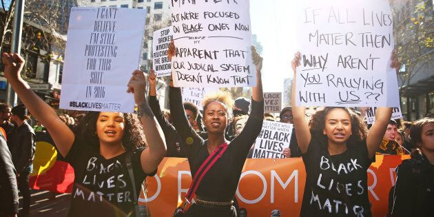 Up to 3,500 people have gathered in Melbourne for a Black Lives Matter Rally.