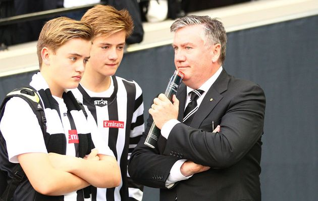 Eddie McGuire with sons Alexander and