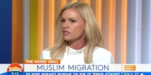 Sonia Kruger said Muslims should be banned from Australia.