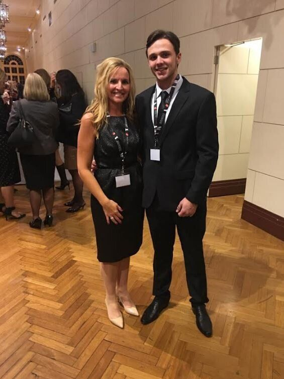 Melissa O'Connell and son Riley at the Dress For Success annual fundraising event on