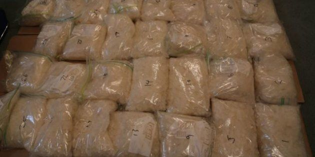 Police have made a big seizure of the drug ice in