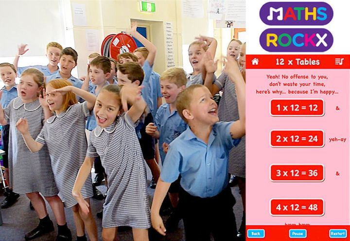 Kids are loving rocking out to their times tables, but developing the app was a tough gig for Otto.