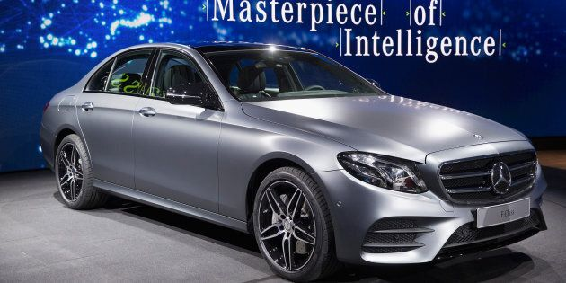 The new Mercedes-Benz E-Class can correct its road position and avoid potential crash