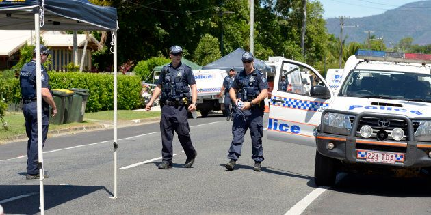 A Queensland Police press conference has been interrupted by the discovery of a deceased