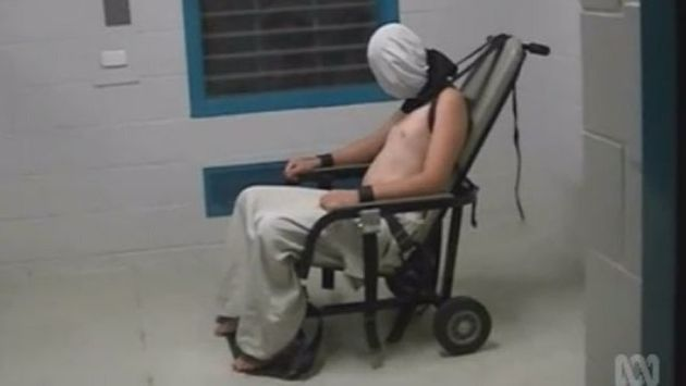 Dylan Voller was strapped to a restraint chair for hours, footage shown by the ABC's Four Corner's revealed...