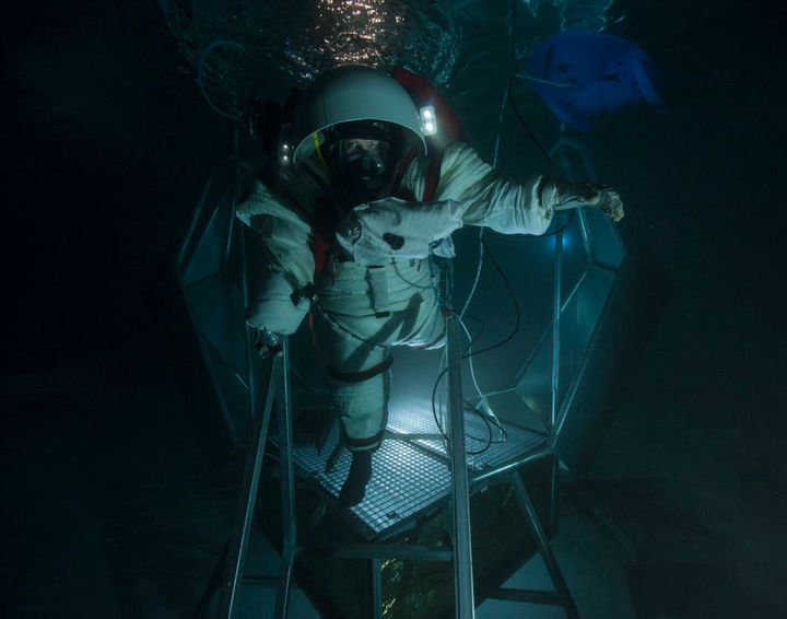 Dr Pell just finished testing a suit in an underwater environment in Marseilles, France as part of Project MoonWalk.