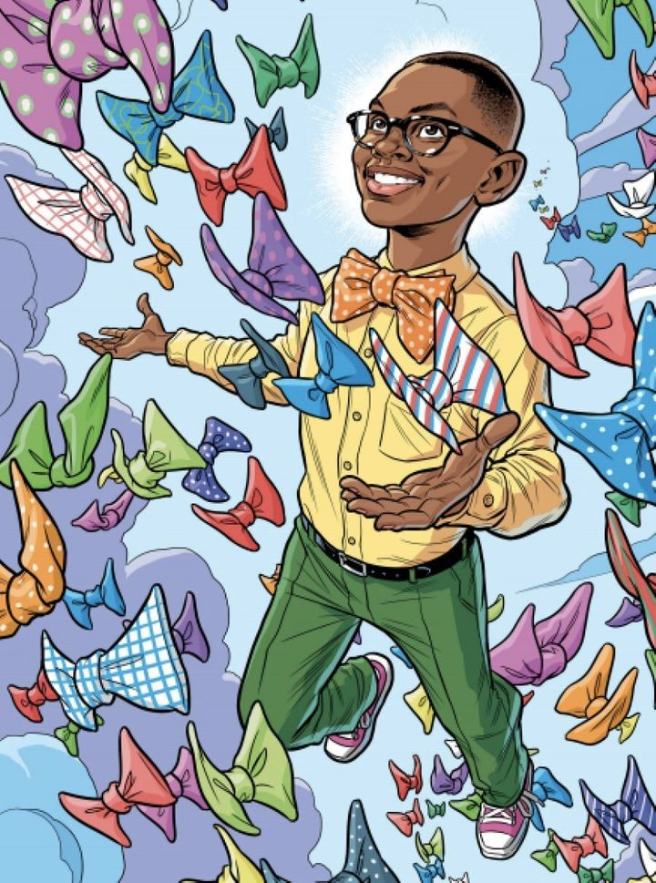 The Brilliant BusinessKids course book is in comic form and colourfully explains the stories behind 12 startups founded by young people, like Moziah Bridges of Mo's Bows.