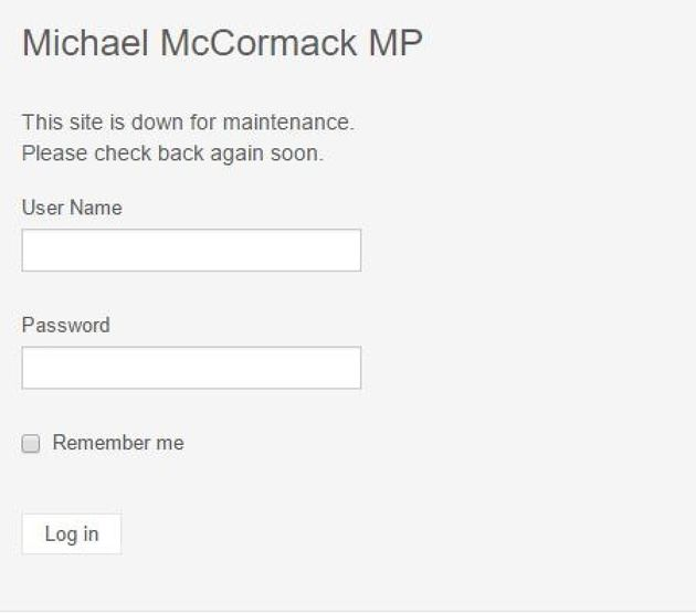 Minister Michael McCormack's official website on Wednesday