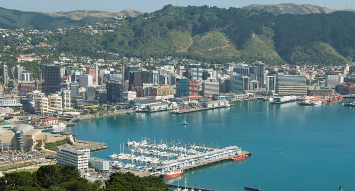 The harbour city, population 204,000, is ringed by steep hills.