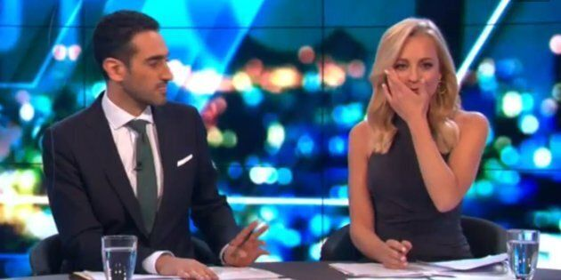 Bickmore became teary-eyed at the desk as she announced the