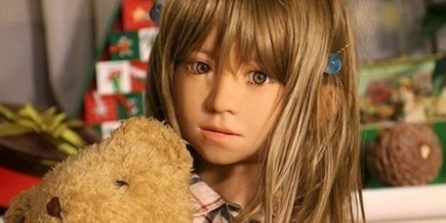 A child sex doll, which is illegal in