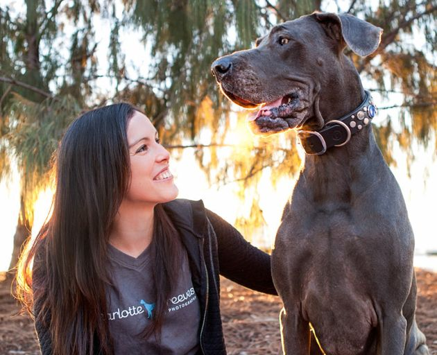 Brisbane pet photographer Charlotte Reeves and