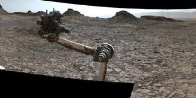 Parorama taken on the surface of Mars by NASA's Curiosity rover.