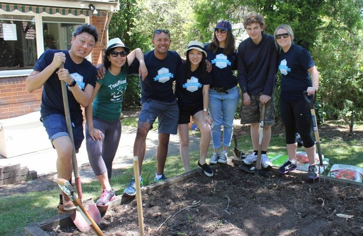 The Salesforce marketing team regularly undertake projects for the good of their local community.