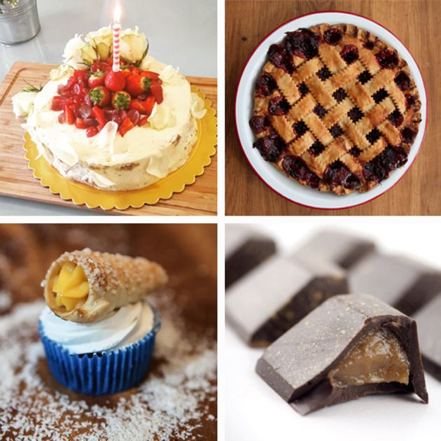 Just some of the desserts available from FoodByUs homecooks; watermelon cake, blueberry pic, cannoli...