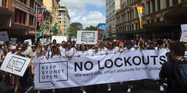 Protesters march through Sydney streets in