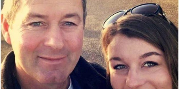 Mark Tromp pictured with a woman believed to be his daughter.