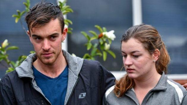 Mitchell and Ella Tromp addressed media following the trip last