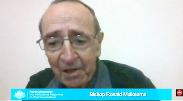 Bishop Ronald Mulkearns gives evidence to the sex abuse royal commission in February.