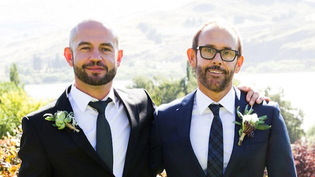 Married At First Sight season 3 contestants, Andy and Craig. Spoiler alert -- they break