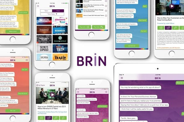 BRiN is an AI online learning solution available on smartphone and