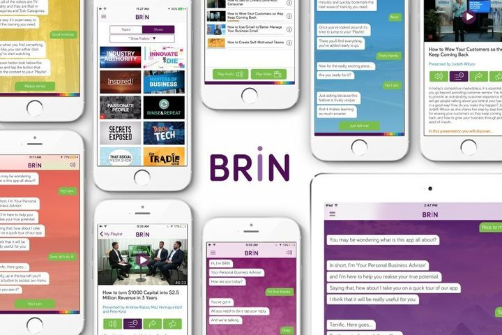 BRiN is an AI online learning solution available on smartphone and tablet.