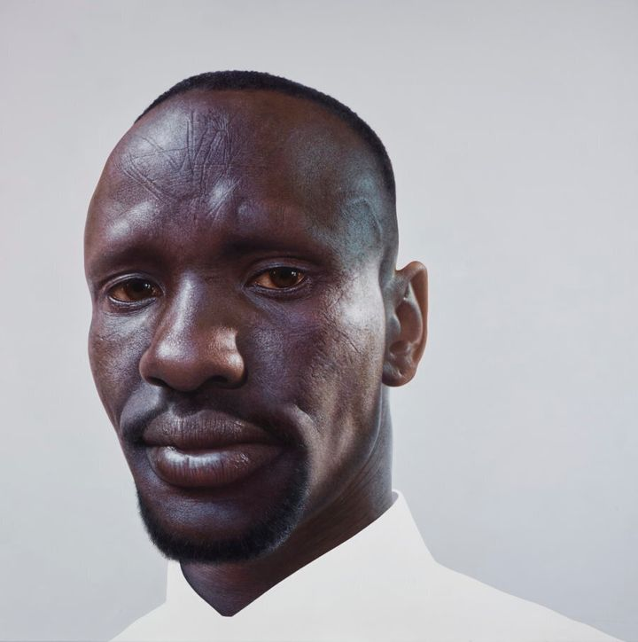 Archibald Prize finalist Nick Stathopoulos' portrait of Deng Adut.