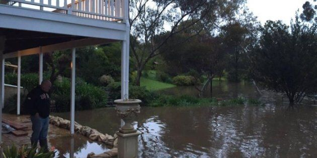 The North Para river has broken its