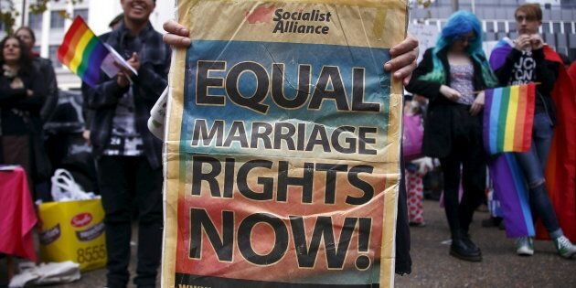 Gay marriage supporters have taken to the streets in Sydney and