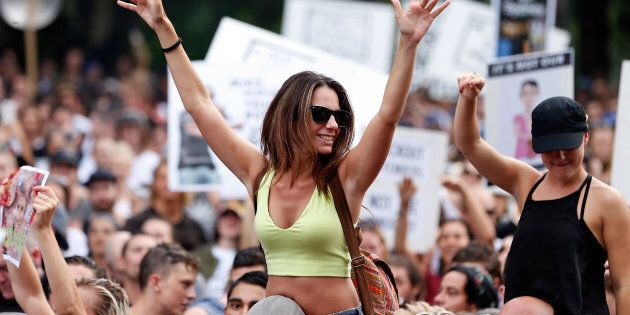 A rally against the lockout laws featuring big music names is taking place in Sydney.