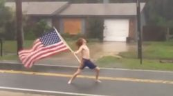 People Love This Shirtless Dude Rocking Out To Slayer During Hurricane