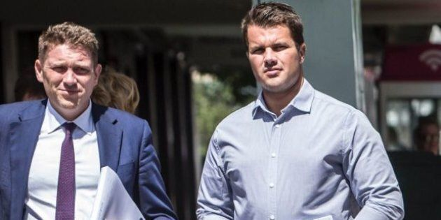 Gable Tostee (R) has plead not guilty to the murder of Warriena