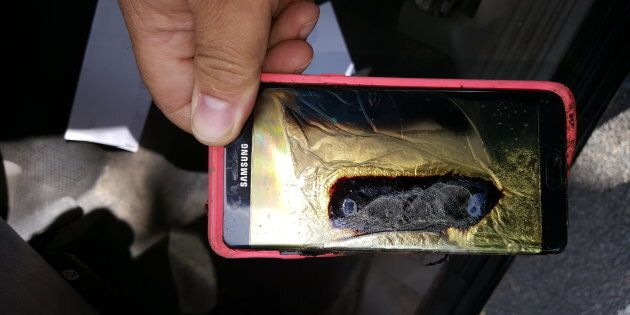 Samsung issued a recall of the Galaxy Note 7 phone in September after several incidents of the device catching fire.