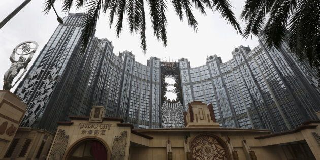 A view of Melco Crown's Studio City, complete with a 130m high Ferris wheel on top of the resort, in...