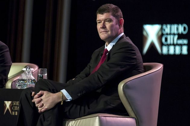 Australian billionaire James Packer, co-chairman of Melco Crown Entertainment, attends a news conference...