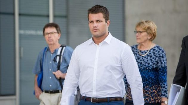 Gable Tostee leaves court during the