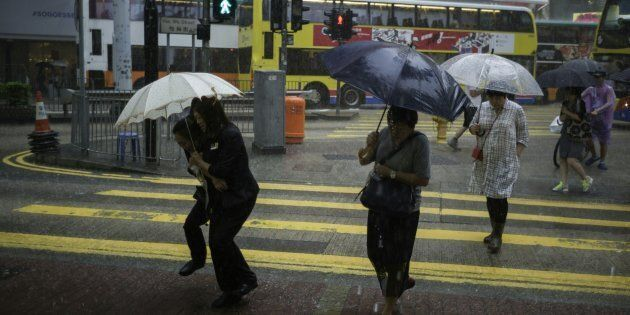 Residents in Hong Kong are preparing for the impact of Typhoon