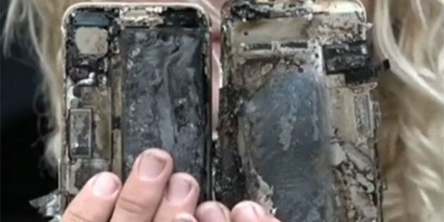 An Aussie surfer's iPhone 7 has reportedly burst into flames and destroyed his