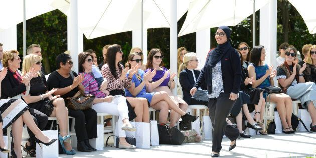 Manija Akbari is one of the many women who will wear the new hijab at Westpac.