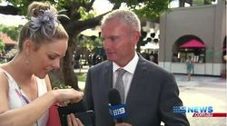 Helpful Woman Crashes Melbourne Cup TV Cross To Report Lost