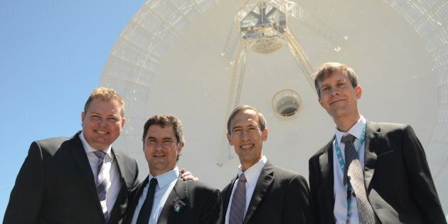 Assistant Science Minister Craig Laundy, CSIRO Chief Executive Dr Larry Marshall, JPL Deputy Director...