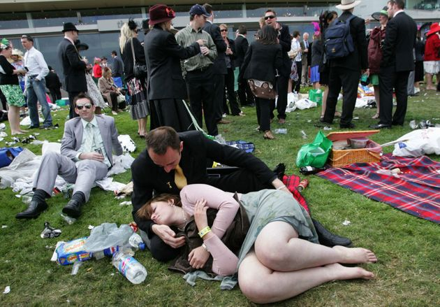 Melbourne Cup racegoers in 2006. Yes, it's been happening for a decade and people are still