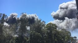 Over 100 Firefighters Battle Massive Blaze At Sydney Car