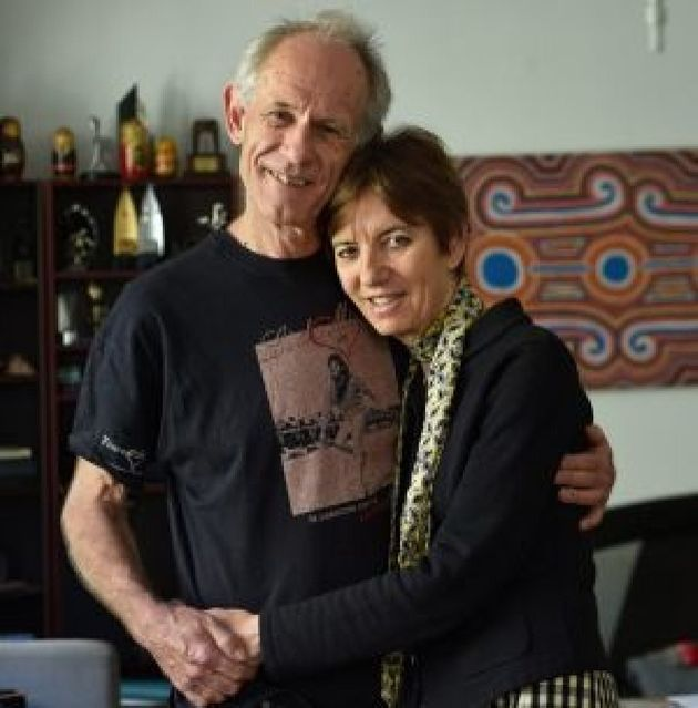 Liz Jackson with her partner, Martin Black, have let cameras into their home to show the effects of Parkinson's...