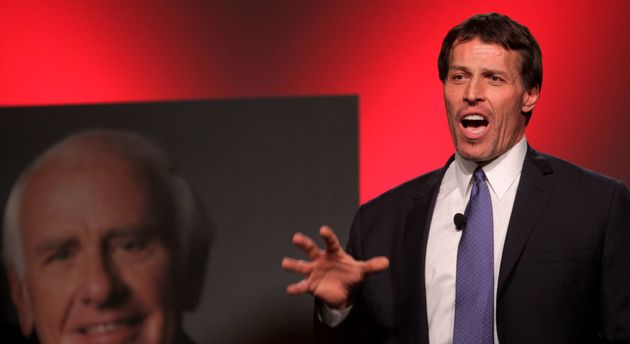 Motivational speaker Anthony Robbins had the most popular