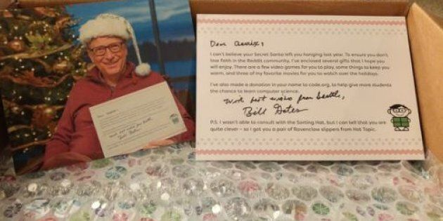 Bill Gates Is Officially The Best Secret Santa Of